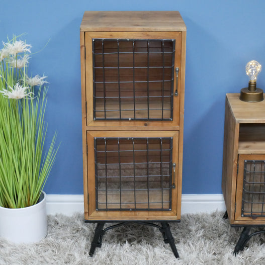 Retro Industrial Cage Small Display Cabinet