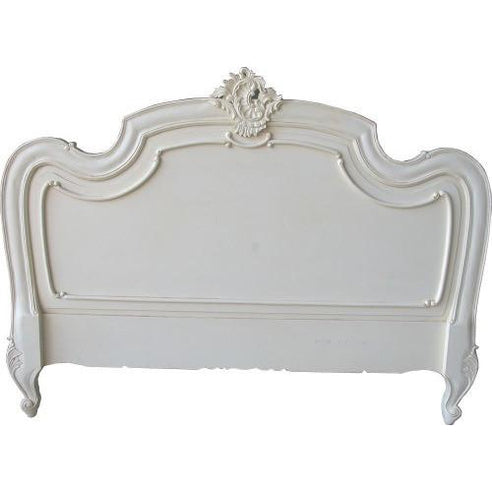 Antique white double Louis headboard