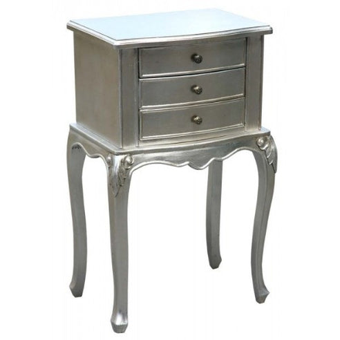 Silver vintage french bedside table