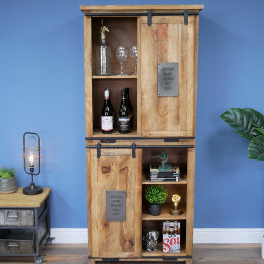 Hoxton Metal and Wood Industrial Jupiter Drinks Display Unit - LOW STOCK!