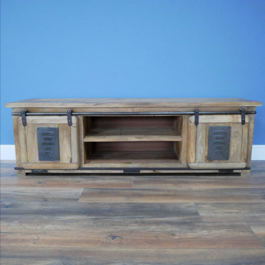 Hoxton Metal and Wood Industrial Jupiter  TV / Media Unit - LOW STOCK!