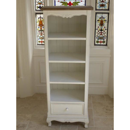 Antique white shabby chic bookcase