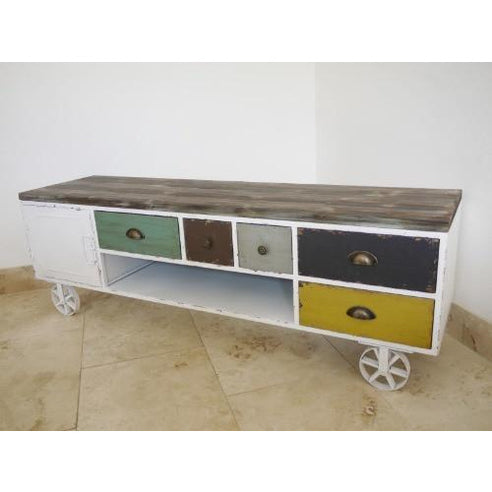 Industrial metal multi colour TV Media unit