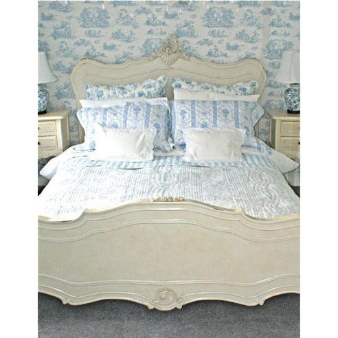 Vintage Antique White Shabby Chic French Double Bed Frame (4\'6\