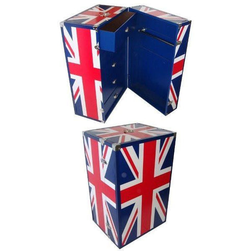 Union jack chest luggage trunk drawers