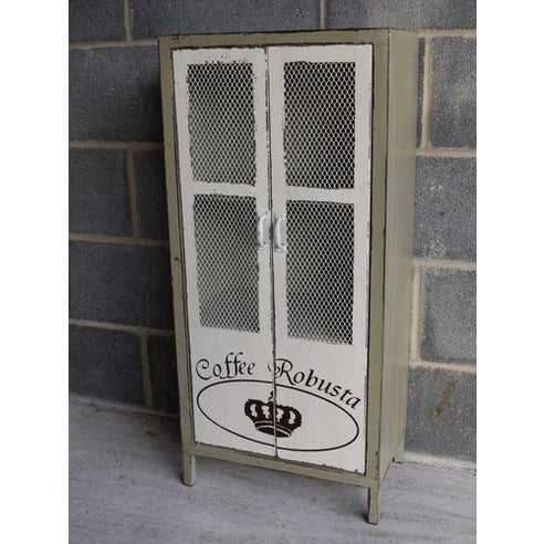 Coffee Robusta industrial metal cupboard