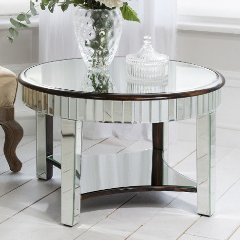 Venetian glass deco round coffee table - Riley
