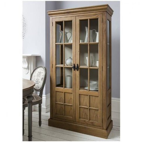 Casa weathered display cabinet