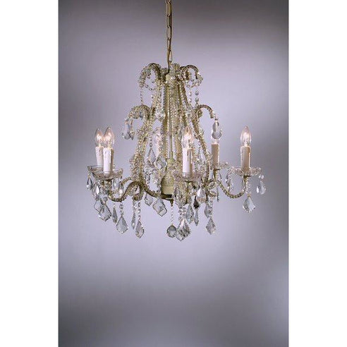 Shabby chic Marie cream chandelier 6 arm