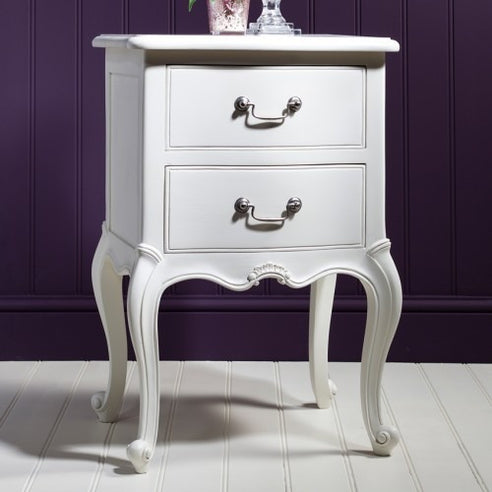 Chic Chalk White French Side Table