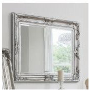 Silver french baroque wall mirror - Harrow