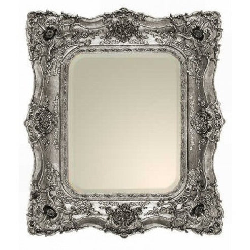 Classic french silver shabby chic mirror
