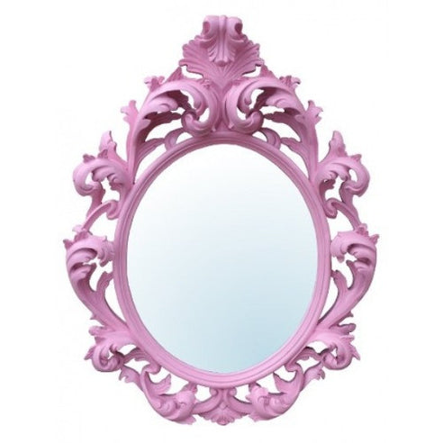 Pink french rococo mirror