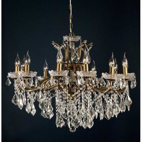 Shabby chic laura large bronze 12 arm chandelier