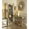 Athena Champagne Silver Mirrored Console Table (121 x 43 x 80cm)