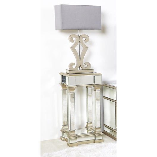 Athena Champagne Silver Telephone Table (35 x 35 x 71cm)