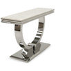 Vida Arianna Cream Marble Polished Stainless Steel Console Table (120 x 40 x 77cm)