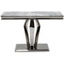 Vida Arturo Grey Marble Polished Steel Console Table