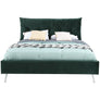 Avery Green Velvet Bed - 5' King Size