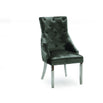 Vida Arianna Grey Marble And Steel 180cm Dining Table with 6 Belvedere Charcoal Grey Chrome Leg Chairs