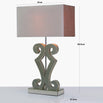 Aria Gold Glass Table Lamp with 16inch Rectangle Champagne Velvet Shade