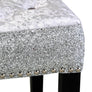 Riley Silver Grey Velvet and Glitter Dressing Stool