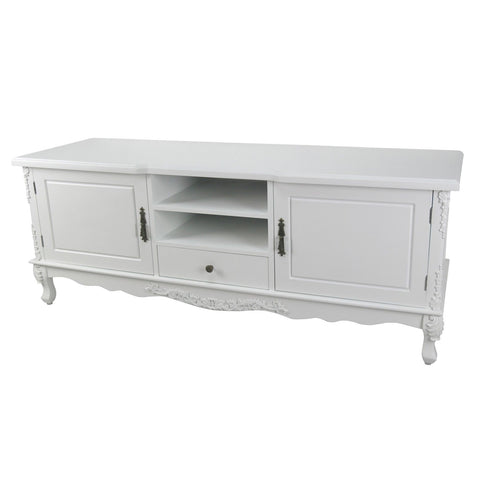 Laura White French Style Large TV / Media Unit (157 x 50 x 60cm)