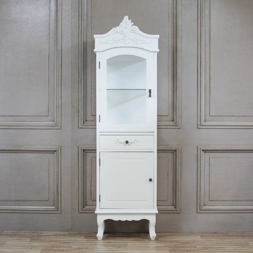 Laura White French 'Armoire Style' Display Cabinet (50.5 x 38.5 x 188cm)