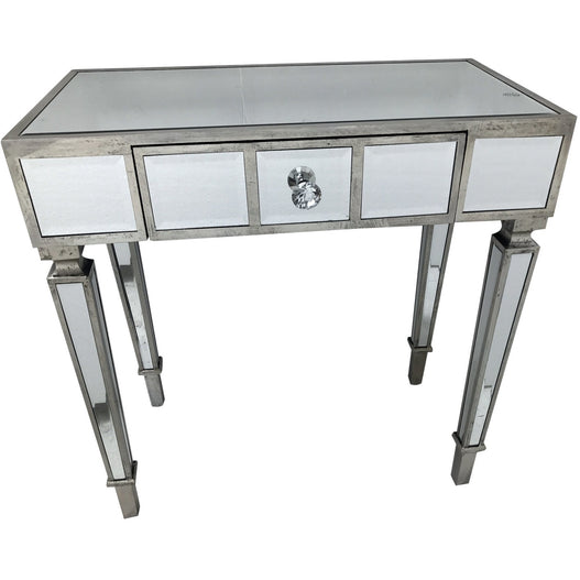Venetian Glass Hollywood Mirrored Small Console Table (80 x 40 x 75cm)