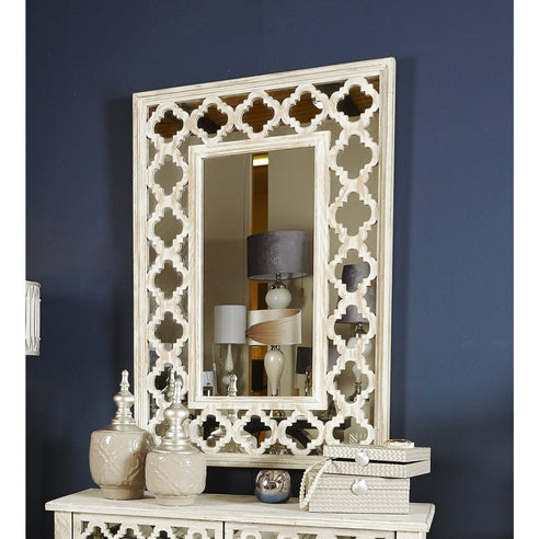 New Hampshire Washed Ash Rectangular Wall Mirror (79 x 3.5 x 118cm)