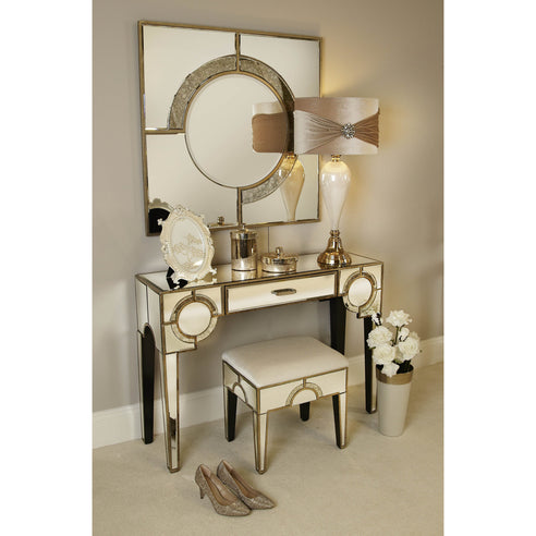 Berkeley Venetian Mirrored Dressing Table Mirror Stool Set