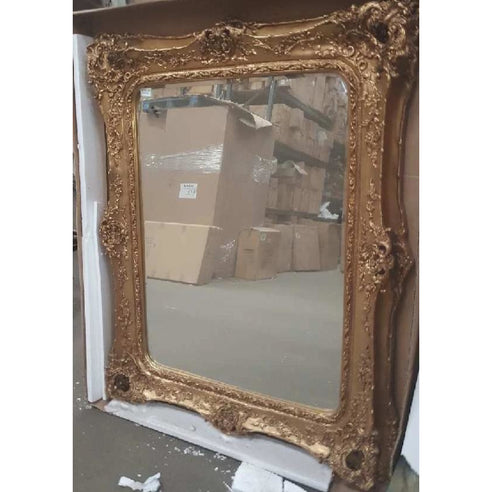 Gold Classic French Shabby Chic Wall Mirror (135 x 164cm)