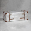 Silver Industrial Style Aluminium Trunk Coffee Table (121 x 40 x 44cm)