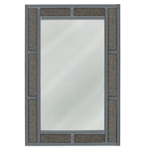 Turin Smoked Copper Brick Effect Rectangular Wall Mirror (80 x 2.6 x 120cm)