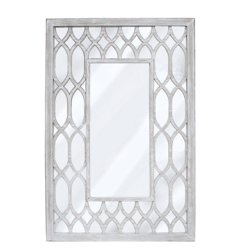 Virginia Washed Ash Wall Mirror (120 x 5 x 80cm)