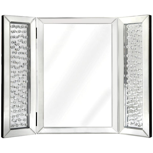 Savoy Floating Crystal Vanity Mirror (67 x 1.6 x 53cm)