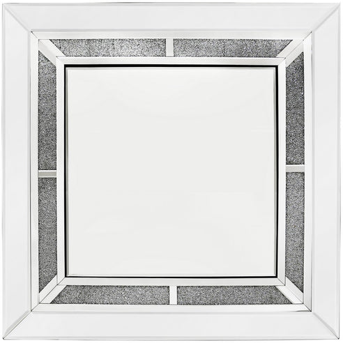 Large Turin Silver Square Wall Mirror (90 x 5 x 90cm)