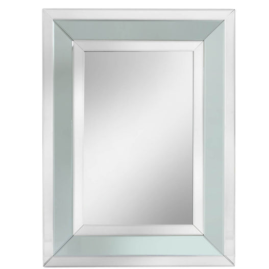 Grey Metro Rectangular Wall Mirror (76 x 5 x 102cm)