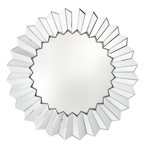 White Metro Round Wall Mirror (100d)