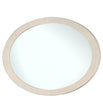 Marlena Light Ivory Walnut Oval Wall Mirror (85 x 3.6 x 140cm)