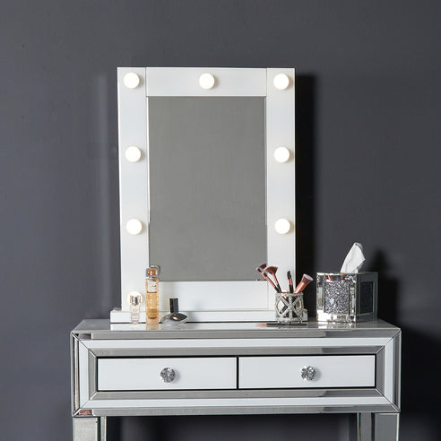 White Metro Vanity Dressing Table Mirror (60 x 18 x 77cm)