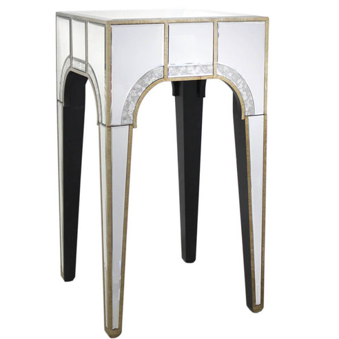 Berkeley Venetian Mirrored Lamp Side Table (40 x 40 x 72cm)