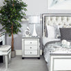 White Metro Mirrored 3 Drawer Bedside Chest (54 x 45 x 66cm)