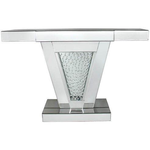 Art Deco Venetian Mirrored Savoy Console Table with 'V' Frame (118.5 x 35.5 x 80.5cm)