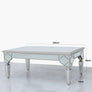 Casablanca Silver Venetian Glass Mirrored Coffee Table (120 x 70 x 45cm)