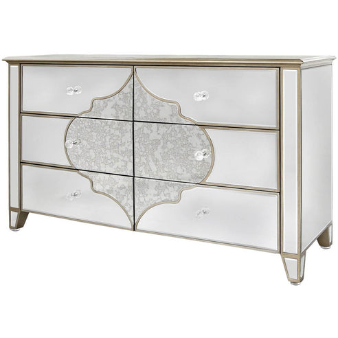 Casablanca Antique Venetian 6 Drawer Chest (140 x 44.5 x 80cm)