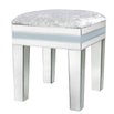 Grey Metro Mirrored 7 Drawer Dressing Table, and Stool Set