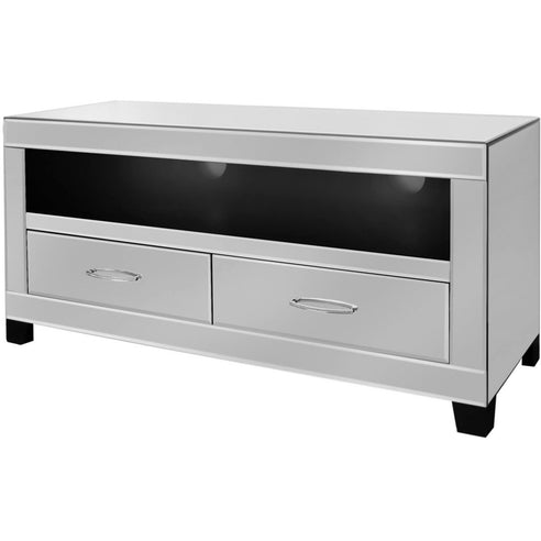 Astra Mirrored TV/Entertainment Unit with Gemstones (120 x 40 x 57cm)