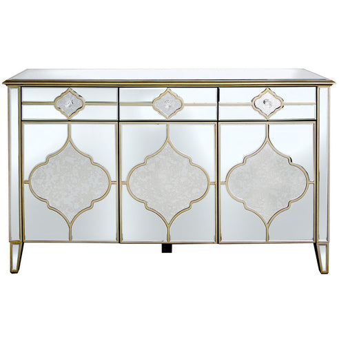 Casablanca Antique Venetian Glass Sideboard (153 x 48 x 90cm)
