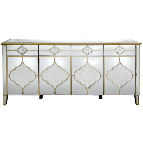 Casablanca Antique Venetian Glass Large Sideboard (198.5 x 40 x 90cm)